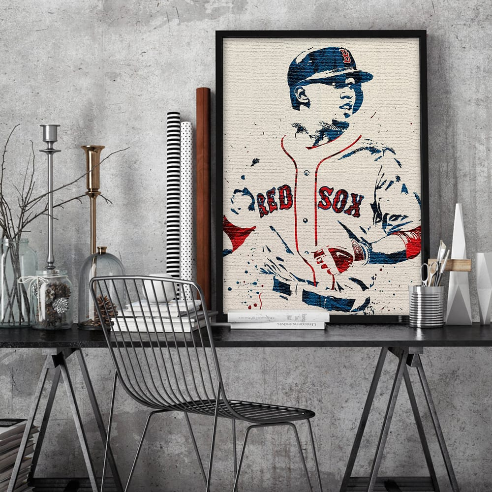 POSTER 24x36 Boston Red Sox Mookie Betts Art Wall Indoor Room Outdoor Poster