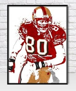Jerry Rice 49ers Poster