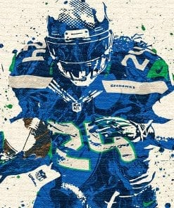 Marshawn Lynch Seattle Seahawks poster