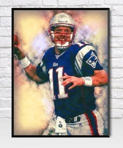 Drew Bledsoe Action on The Field Poster