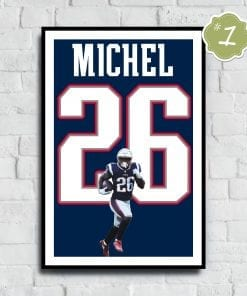 Sony Michel Jersey Number Poster