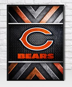 Chicago Bears Metal Style Poster