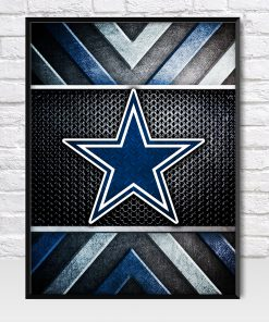 Dallas Cowboys Metal Style Poster