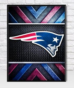 New England patriots Metal Style Poster