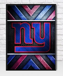 New York Giants Metal Style Poster