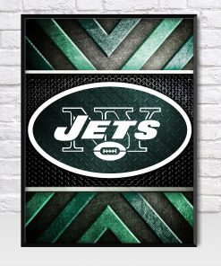 New York Jets Metal Style Poster