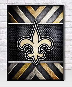 New Orleans Saints Metal Style Poster