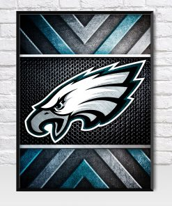 Philadelphia Eagles Metal Style Poster