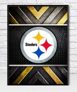 Pittsburgh Steelers Metal Style Poster