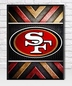 San Francisco 49ers Metal Style Poster