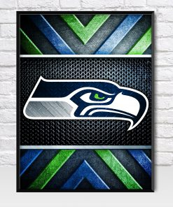 Seattle Seahawks Metal Style Poster