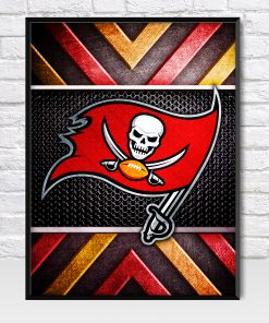Tampa Bay Buccaneers Metal Style Poster