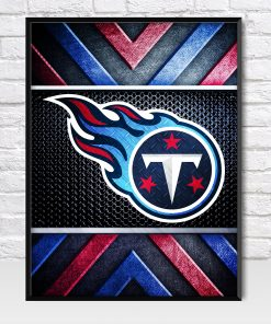 Tennesse Titans Metal Style Poster