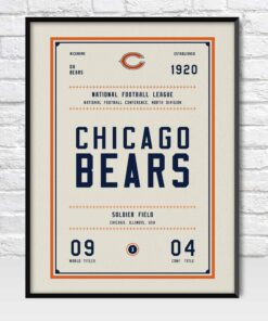 Chicago Bears Retro Style Poster