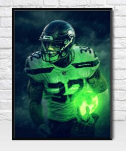 Chris Carson Seattle Seahawks Poster