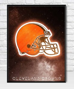 Cleveland Browns Galaxy Logo Poster