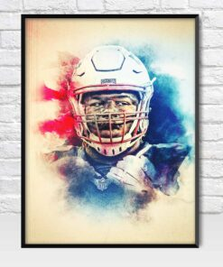 Malcom Brown New England Patriots Defensive Tackle Poster