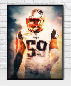 Marquis Flowers New England Patriots Linebacker Poster