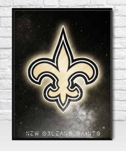 New Orleans Saints Galaxy Logo Style Poster