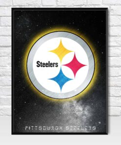 Pittsburgh Steelers Galaxy Logo Style Poster