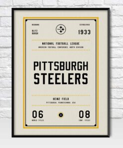 Pittsburgh Steelers Retro Style Poster