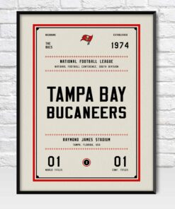 Tampa Bay Buccaneers Retro Style Poster
