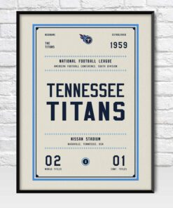 Tennessee Titans Retro Style Poster